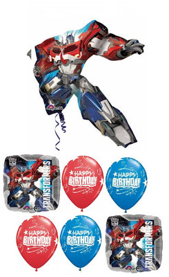 Transformers Optimus Prime Birthday Balloon Bouquet