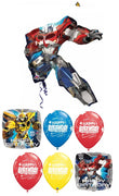 Transformers Optimus Prime Happy Birthday Balloon Bouquet