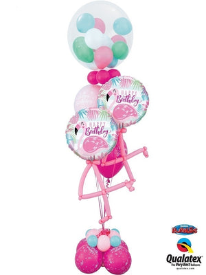 Flamingo Birthday Gumball Bouquet
