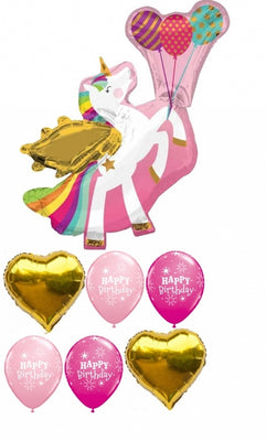 Unicorn Pegasus Birthday Balloon Bouquet 9