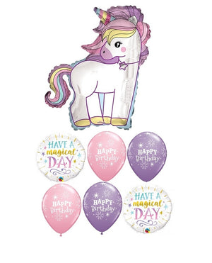 Unicorn Pastel Birthday Balloon Bouquet 8
