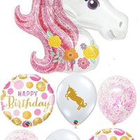 Unicorn Pink Birthday Balloon Bouquet 5