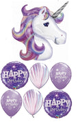 Unicorn Pastel Rainbow Birthday Balloon Bouquet 6