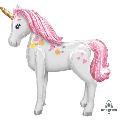 46 Unicorn Airwalker Foil Balloon with Helium