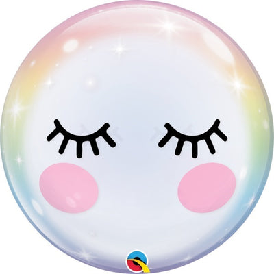 Eyelashes Bubbles Balloon