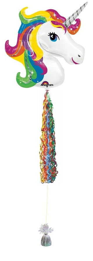 Unicorn Rainbow Balloon Tassel
