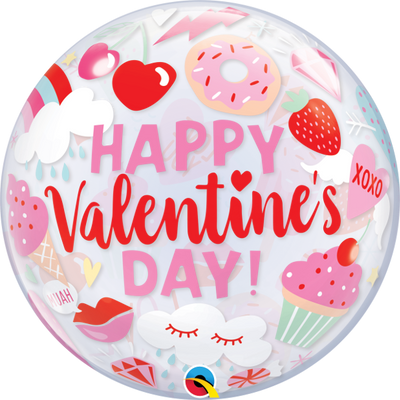 Valentines Day Sweets Bubbles Balloon