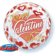 Valentines Day Red Hearts Bubbles Balloon