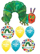 Very Hungry Caterpillar Birthday  Girl Balloon Bouquet