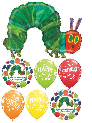 Very Hungry Caterpillar Happy Birthday Balloon Bouquet