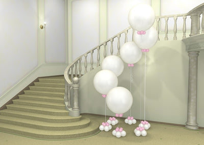 Wedding 36 inch White Round Balloon Stand Up