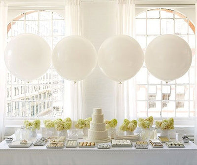 Wedding 36 inch Round Cake Table Balloons