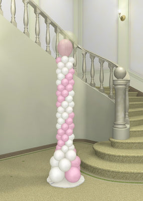 Wedding Spiral Balloon in Balloon Column