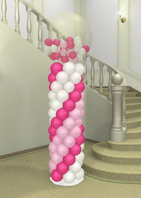 Wedding 36 inch Gumball Balloon Column