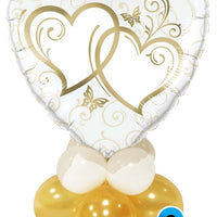 Gold Heart Centerpiece