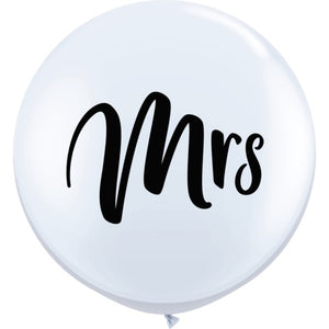 Wedding 36 inch Mrs Balloon
