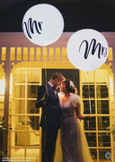 Wedding 36 inch Mr and Mrs Balloons