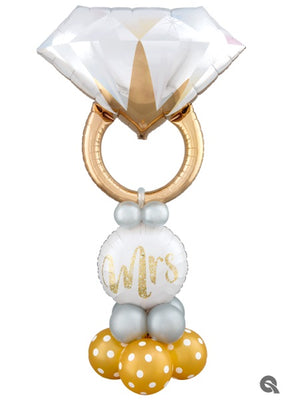 Wedding Diamond Ring Balloon Stand Up