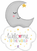 Welcome Baby Moon 42 inch Foil Balloon