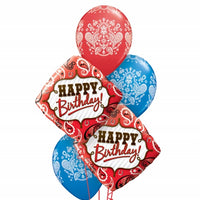 Western Birthday Paisley Balloon Bouquet