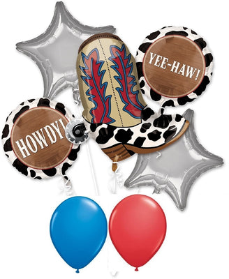 Western Boot Howdy Balloon Bouquet
