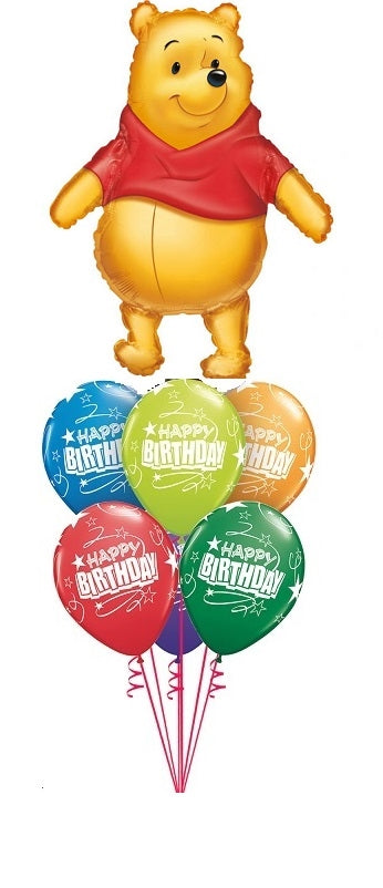 Winnie the Pooh Happy Birthday Balloon Bouquet