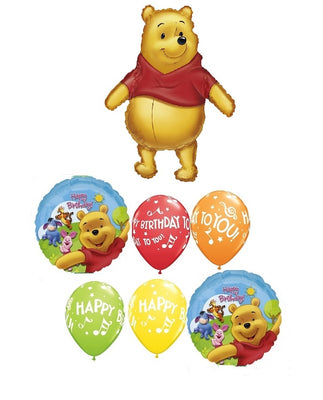 Winnie the Pooh  and Friends Happy Birthday Balloon Bouquet