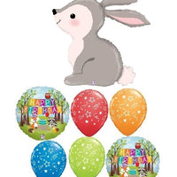 Woodland Critters Bunny Birthday Balloon Bouquet