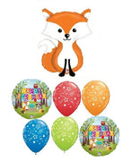 Woodland Critters  Fox Birthday Balloon Bouquet