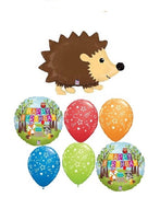 Woodland Critters Hedgehog Birthday Balloon Bouquet
