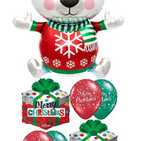 Christmas Polar Bear Balloon Bouquet 1