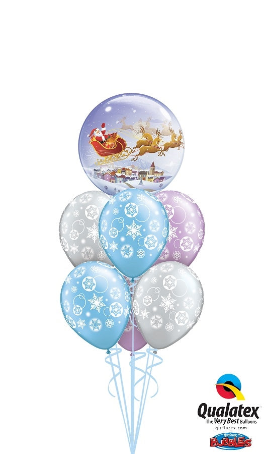 Santa Claue Bubble Balloon Bouquet 2