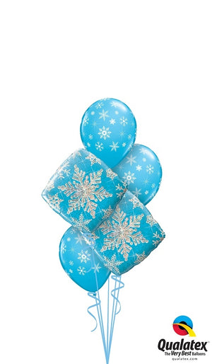Snowflake Balloon Bouquet 3