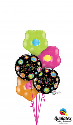Blossoms Birthday Balloon Bouquet