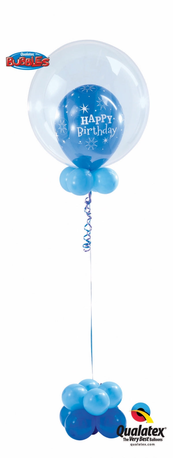 Birthday Sparkle Blue Balloon Centerpiece