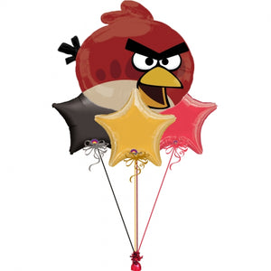 Angry Birds Red Bird Balloon Bouquet 2