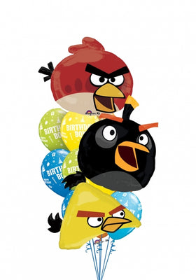 Angry Birds Red Black Yellow Bird Birthday Bouquet 8