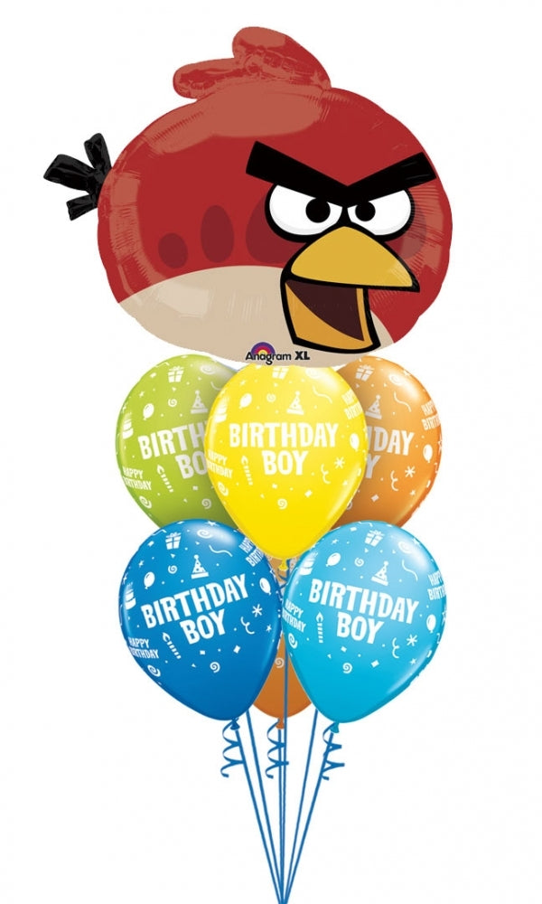 Angry Birds Red Bird Birthday Balloon Bouquet 4
