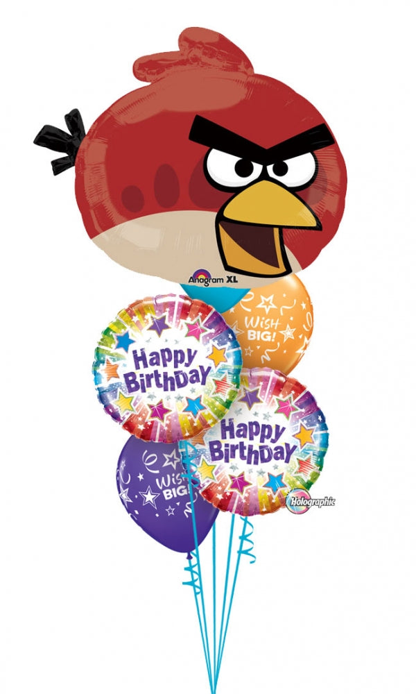 Angry Birds Red Bird Birthday Balloon Bouquet 5