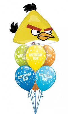 Angry Birds Yellow Bird Birthday Balloon Bouquet 2