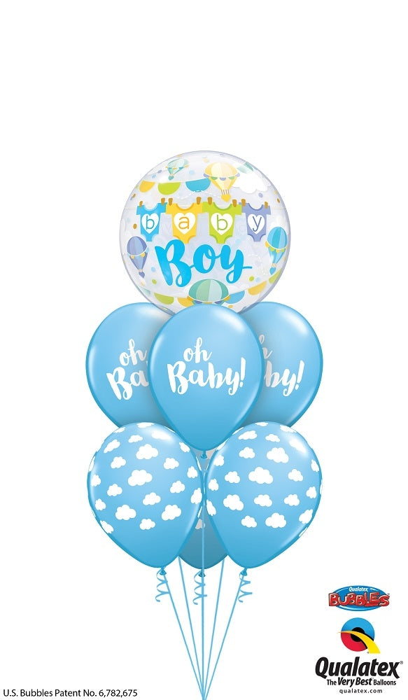 Baby Boy Bubble Balloon Bouquet