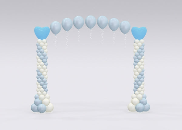 Blue Pearl Balloon Arch and Columns