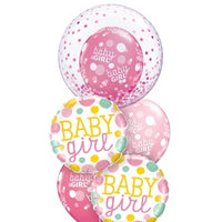 Baby Girl Bubbles Dots Balloon Bouquet