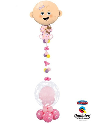 Baby Girl Bubbles Balloon Stand Up