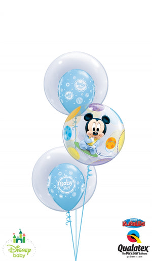 Baby Mickey Mouse Bubbles Balloon Bouquet