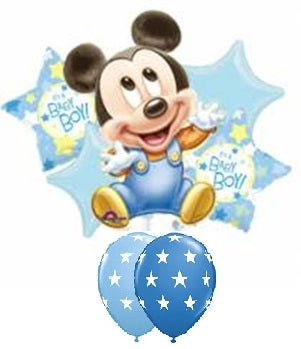 Baby Mickey Mouse Balloon Bouquet 2