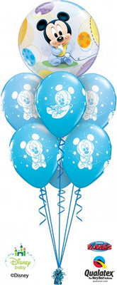 Baby Mickey Mouse Bubbles Balloon Bouquet 1
