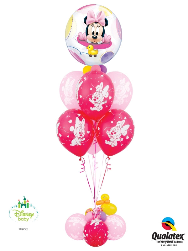 Baby Minnie Mouse Deluxe Bubbles Balloon Bouquet 2
