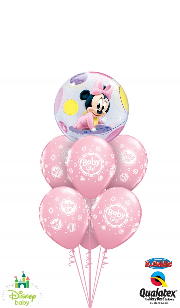 Baby Minnie Mouse Bubbles Balloon Bouquet 3