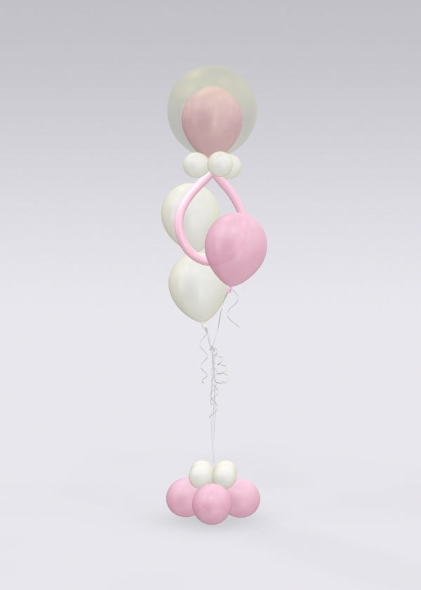 Baby Pacifier Pink Balloon Bouquet Stand Up